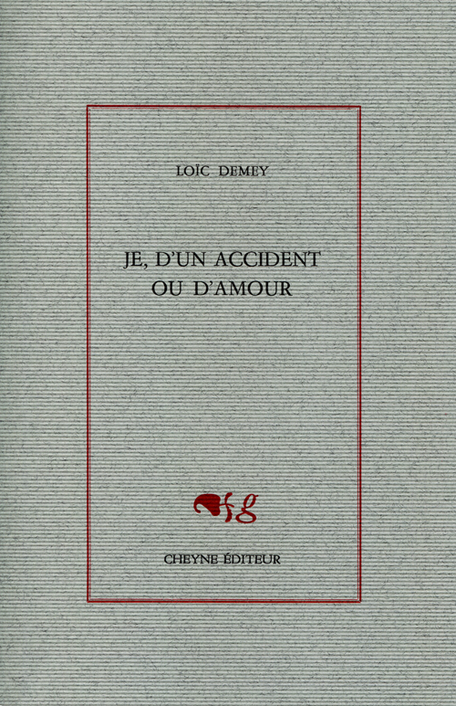 Couverture Je, d'un accident ou d'amour